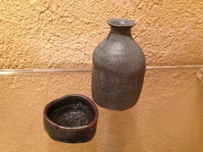照井壮 黒釉の杯_b0132442_19515224.jpg