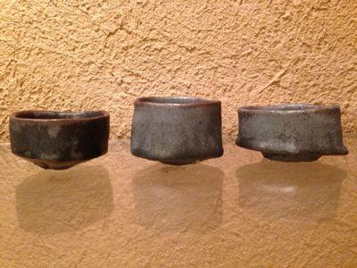 照井壮 黒釉の杯_b0132442_19515367.jpg