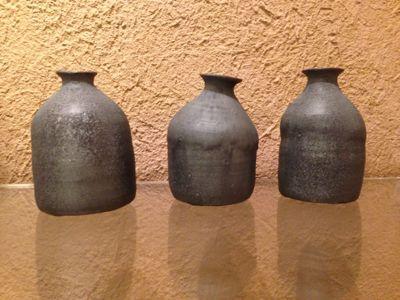 照井壮 黒釉の杯_b0132442_19515546.jpg
