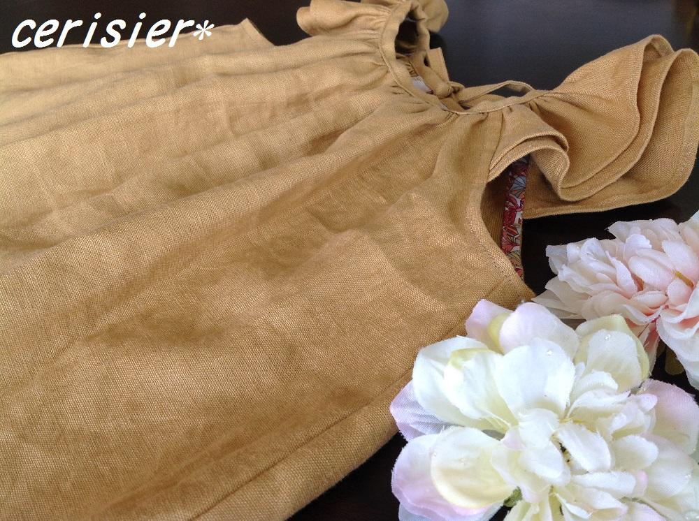 Linen dropsさんモニター☆くたくたリネン・からし色☆_d0324601_09415243.jpg