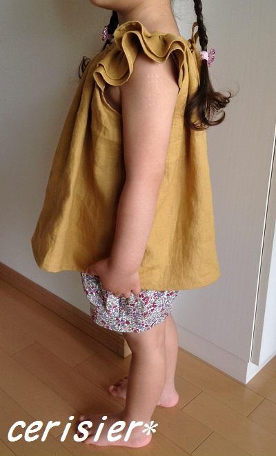 Linen dropsさんモニター☆くたくたリネン・からし色☆_d0324601_09420120.jpg