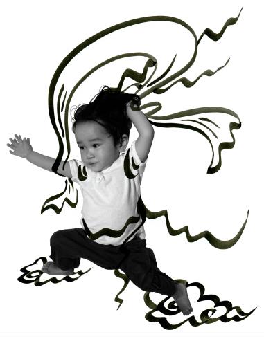 東日本大震災被災地支援Hand in Hand Tシャツアート展2014~竹浪明写真×松岡芽ぶき画「小風神(こふうじん)」T_f0006713_22053128.jpg