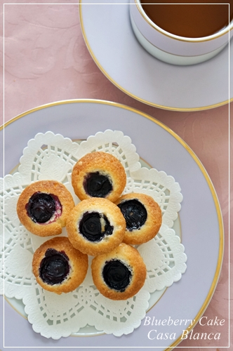 プチフール ブルーベリーのケーキ_b0170162_21293945.jpg