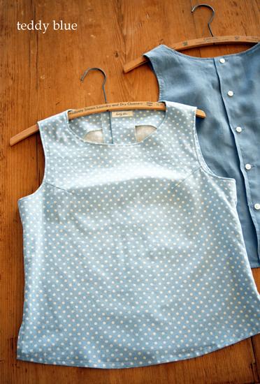 linen sleeveless top  リネンのノースリーブシャツ_e0253364_20444141.jpg