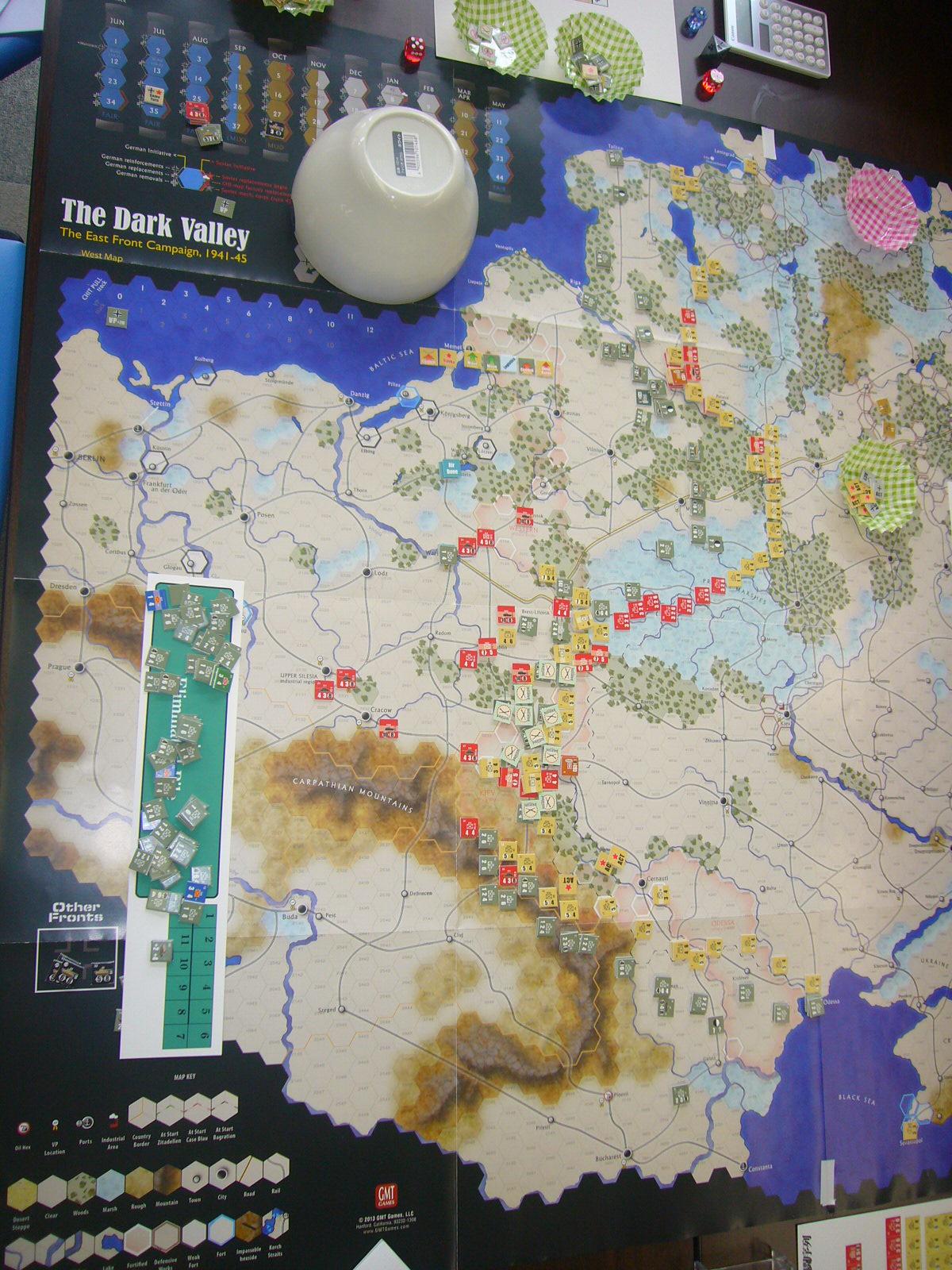6/21 YSGA第300回定例会の様子その3(GMT)ダーク・バレー「1944バグラチオン作戦」シナリオ3人戦)_b0173672_23035311.jpg