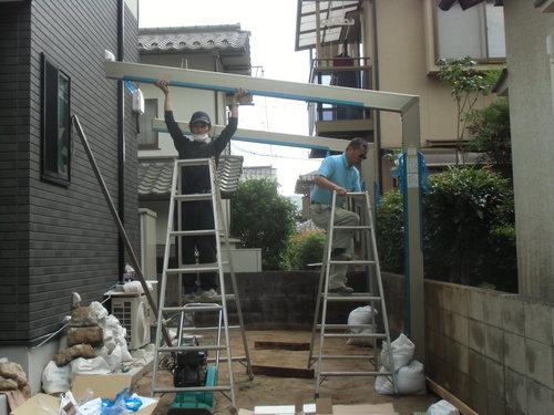S様邸(安佐南区高取北)カーポート・土間打ち工事_d0125228_8553593.jpg