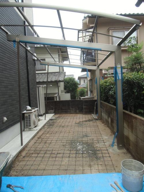 S様邸(安佐南区高取北)カーポート・土間打ち工事_d0125228_8581032.jpg