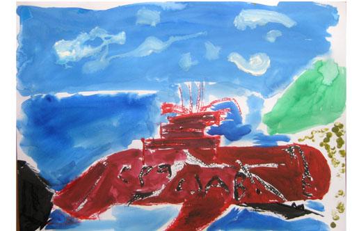 旅する船①・小学生クラス_f0211514_23261915.jpg