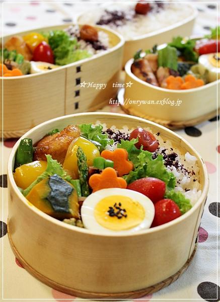 チキンと野菜の甘酢焼き弁当と山食パン♪_f0348032_19262996.jpg