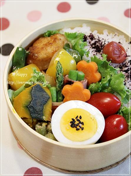 チキンと野菜の甘酢焼き弁当と山食パン♪_f0348032_19264244.jpg