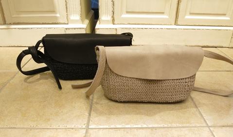 革のかごバッグが新鮮です。_c0227633_11475249.jpg