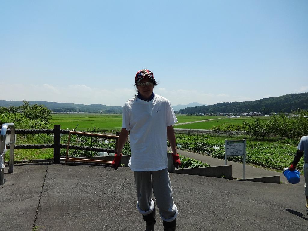 野菜収穫~根城~新幹線で帰宅へ 【6/25】_d0061678_2016686.jpg