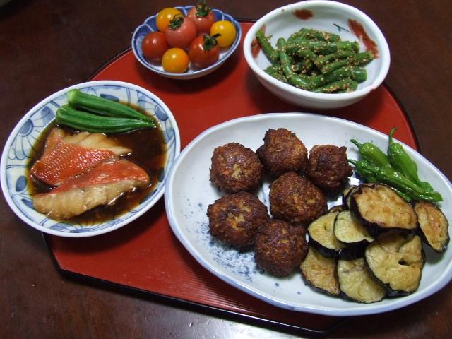 畑直送野菜で夕食作り_f0019498_1627582.jpg