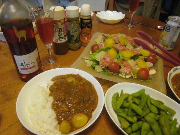 収穫物色々、夕飯も色々_e0121558_22445952.jpg
