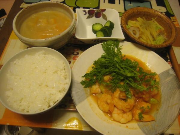 収穫物色々、夕飯も色々_e0121558_22462046.jpg