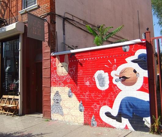 ブルックリンのウィリアムズバーグ(南側)で見かけた街角アート_b0007805_2220164.jpg