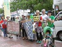 七夕の日、池田から川西へ、大阪府から兵庫県へ「平和行進」が引き継がれました。_c0133422_1302090.jpg