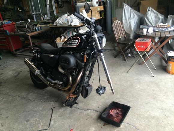 バイク屋さん的日常とSRのハンドルロック_a0139843_2210390.jpg