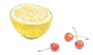 グレープフルーツとさくらんぼ_f0189164_2244265.jpg