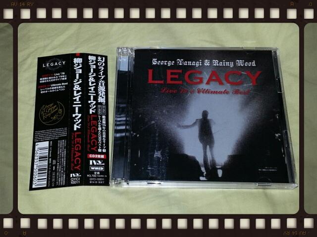 柳ジョージ&レイニーウッド / LEGACY - Live\'79 & Ultimate Best_b0042308_23535290.jpg