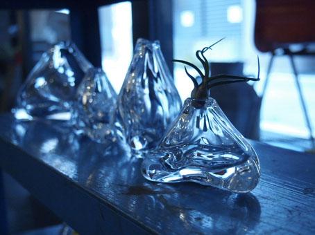 李 慶子「ガラスの器展」初日_b0322280_2226952.jpg