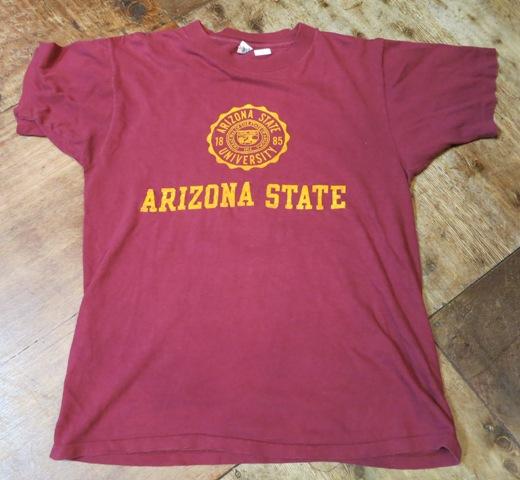 7月12日(土)入荷!70'S ARIZONA STATE フロッキープリントTシャツ!_c0144020_15443750.jpg