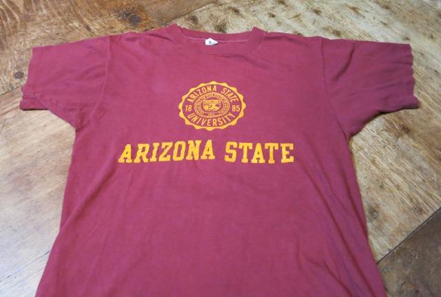 7月12日(土)入荷!70'S ARIZONA STATE フロッキープリントTシャツ!_c0144020_15443985.jpg
