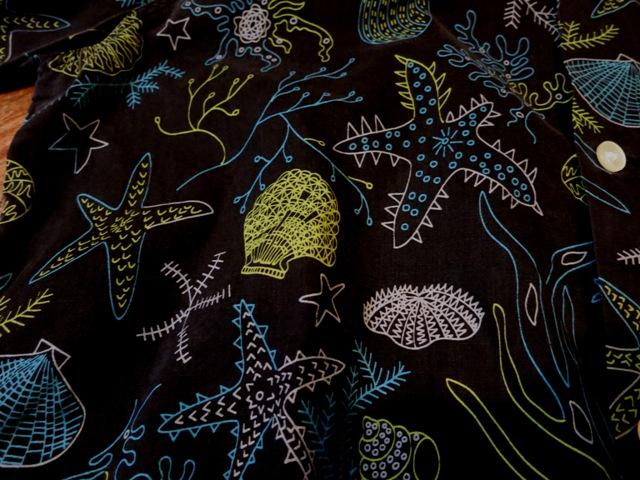 7月12日(土)入荷!50'S ARROW 黒ベース コットンシャツ!_c0144020_1549301.jpg