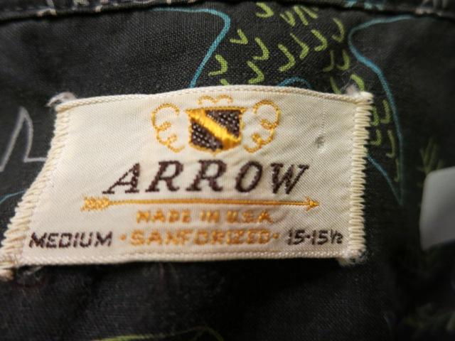 7月12日(土)入荷!50'S ARROW 黒ベース コットンシャツ!_c0144020_17194171.jpg