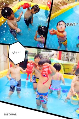 プールで水遊び_c0197584_09571752.jpg