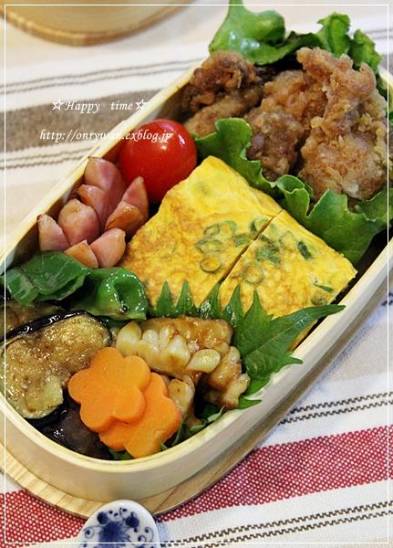 から揚げ弁当とお好み焼きランチ♪_f0348032_18002682.jpg