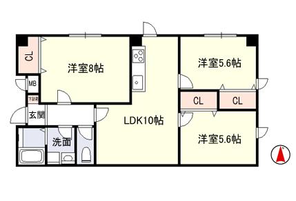 稲葉2丁目 リノベーション完了!賃貸マンション3部屋入居募集!_e0251265_1223381.png