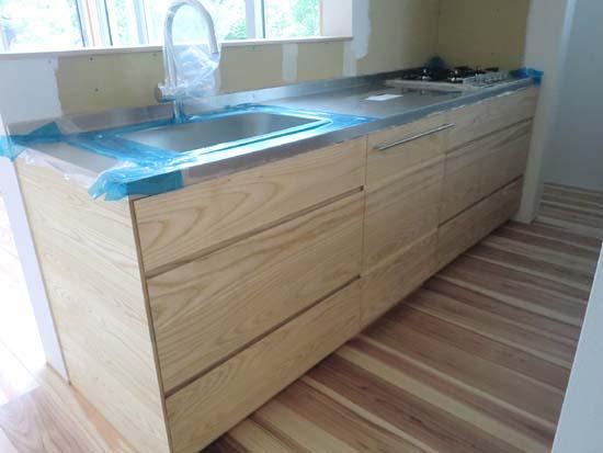 【家づくり】 オリジナルキッチン設置2_c0293787_12215761.jpg