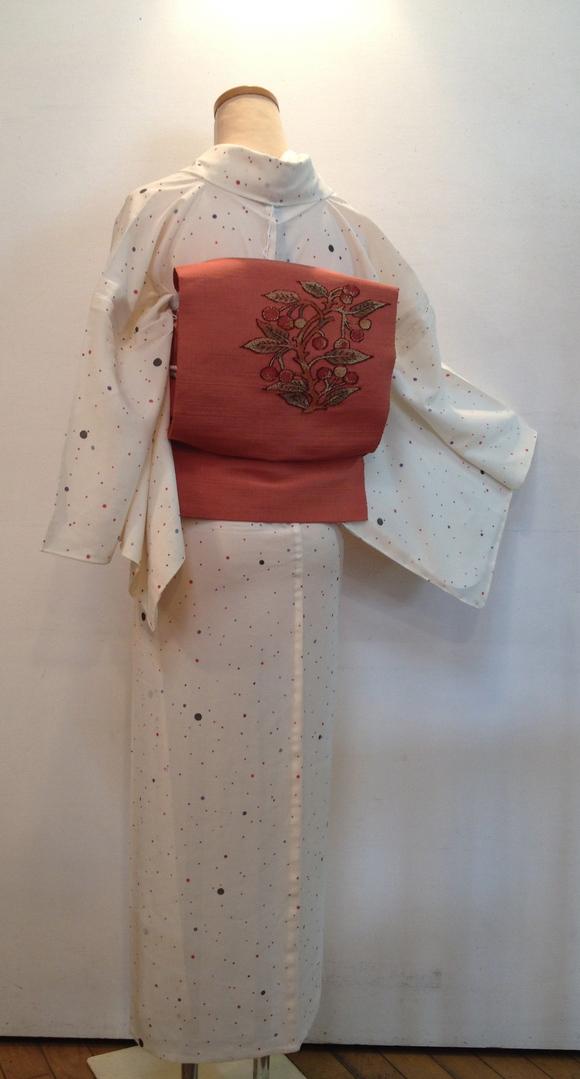 明日から!「今昔きもの市」ドット着物×桜桃帯♪販売商品32_c0321302_11295469.jpg