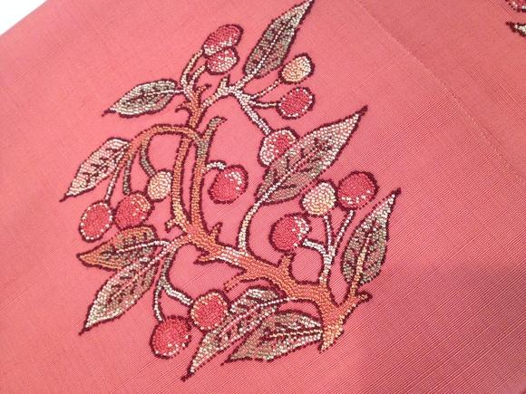 明日から!「今昔きもの市」ドット着物×桜桃帯♪販売商品32_c0321302_11313959.jpg