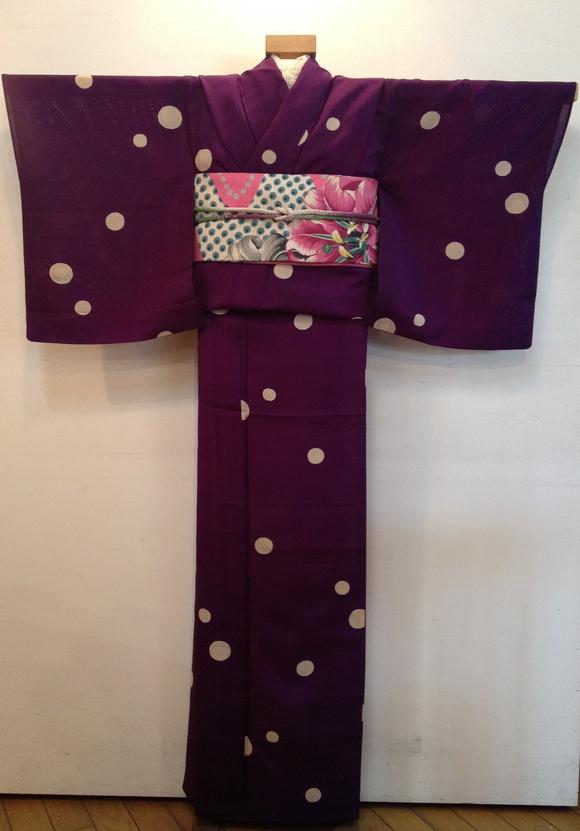 明日から!「今昔きもの市」紫水玉着物×百合帯♪販売商品34_c0321302_11424043.jpg