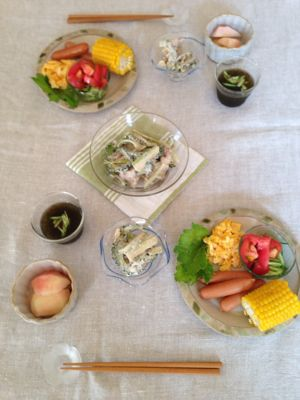 summer  休日の朝食♪_a0165160_8513432.jpg