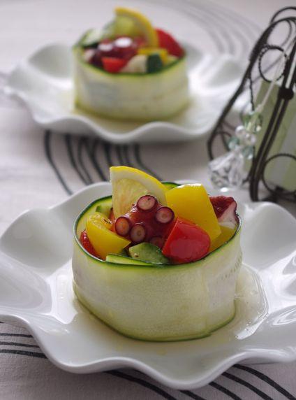 さっぱり清涼感あふれるタコと夏野菜のマリネ【レシピ付き】
