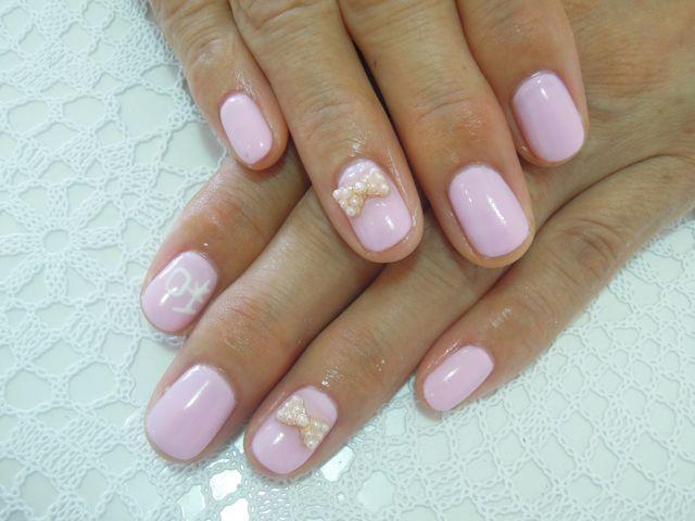 Pink Ribbon Nail_a0239065_1728322.jpg