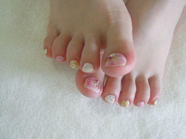 Pink Marble Nail_a0239065_17401354.jpg