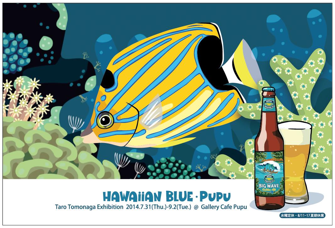 「HAWAIIAN BLUE・Pupu」DM_f0292806_16030615.jpg