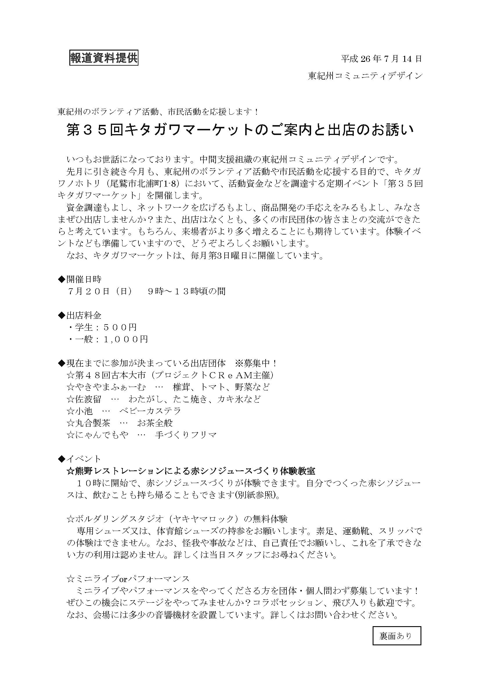 第35回キタガワマーケットとまちづくり_c0010936_9144935.jpg