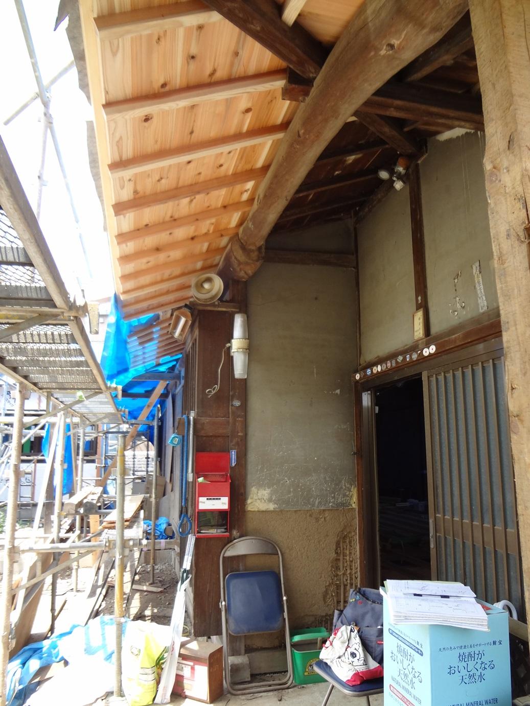 古民家部分 屋根改修 その2_b0274159_20302790.jpg
