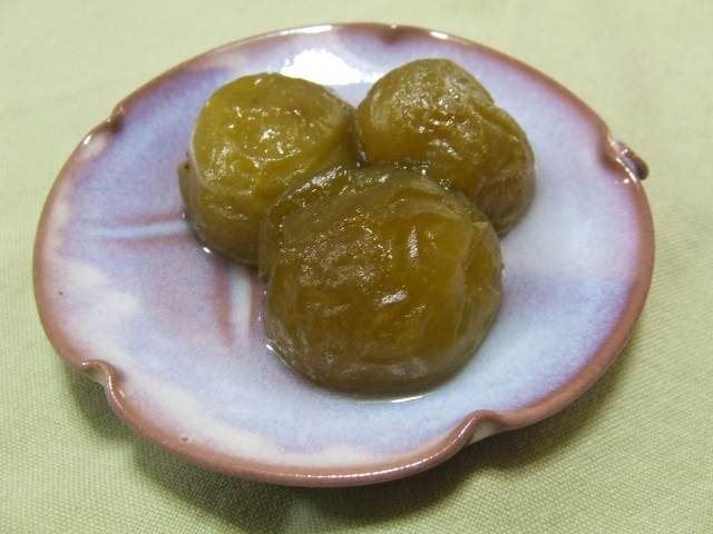 梅の甘煮は、難しい_f0019498_17245540.jpg