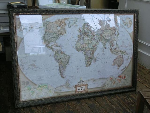 世界地図の額裝_a0077203_18352896.jpg