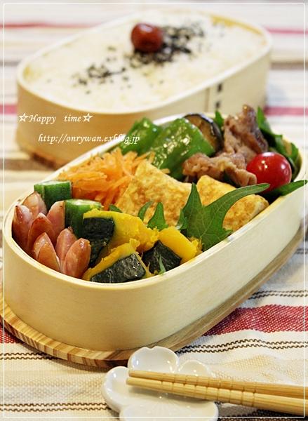 豚肉と茄子の生姜焼き弁当と手まり寿司♪_f0348032_19073629.jpg