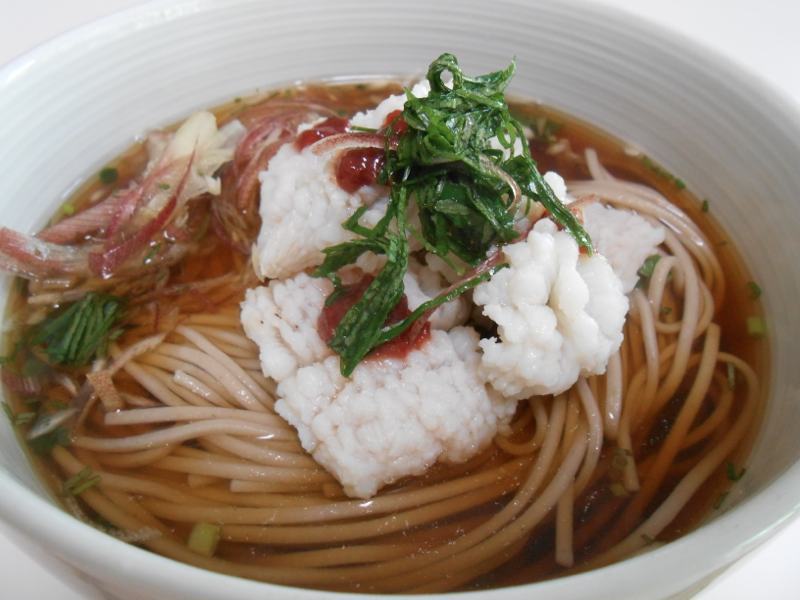 お昼ご飯に初夏のハモ蕎麦_a0095931_950433.jpg