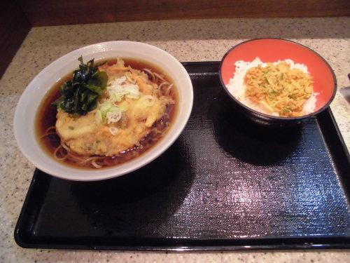 9杯目:富士そば昭和通り店で鮭ごはんセット_f0339637_09122320.jpg