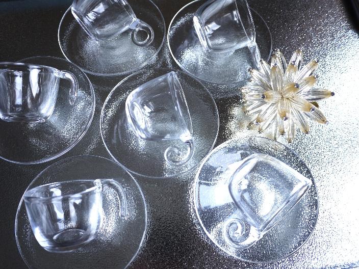夏に使いたいカップ&ソーサー スガハラガラス_b0202345_10202726.jpg