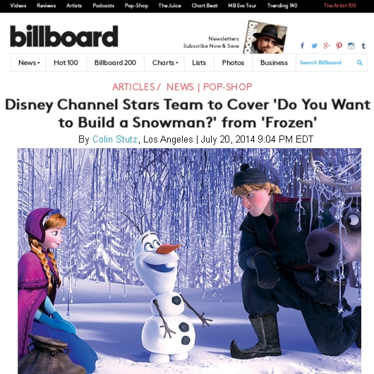 """アナ雪ファンにディズニーからの素敵なプレゼント、\""""Do You Want to Build a Snowman?\""""特別バージョン_b0007805_15171780.jpg"""